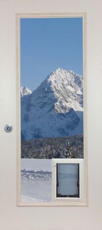 French Door Glass Panel with Pet door - MaxSeal