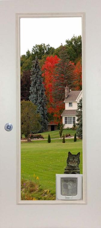French Door Glass Panel with Cat Door - SureFlap Micro Chip