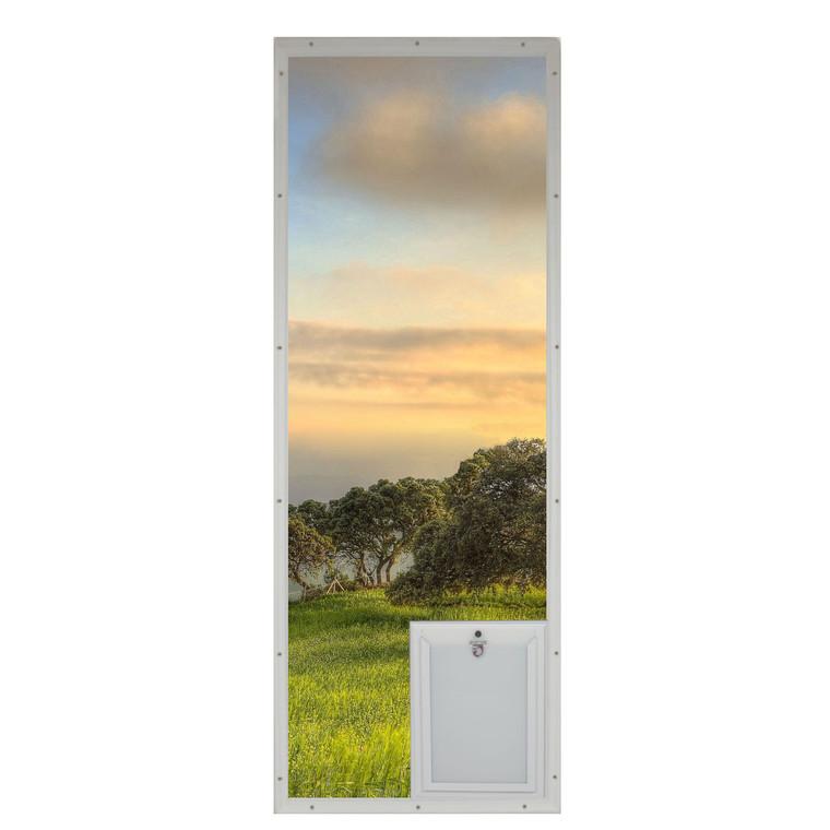 French Door Glass Panel with Pet Door - SB Standard