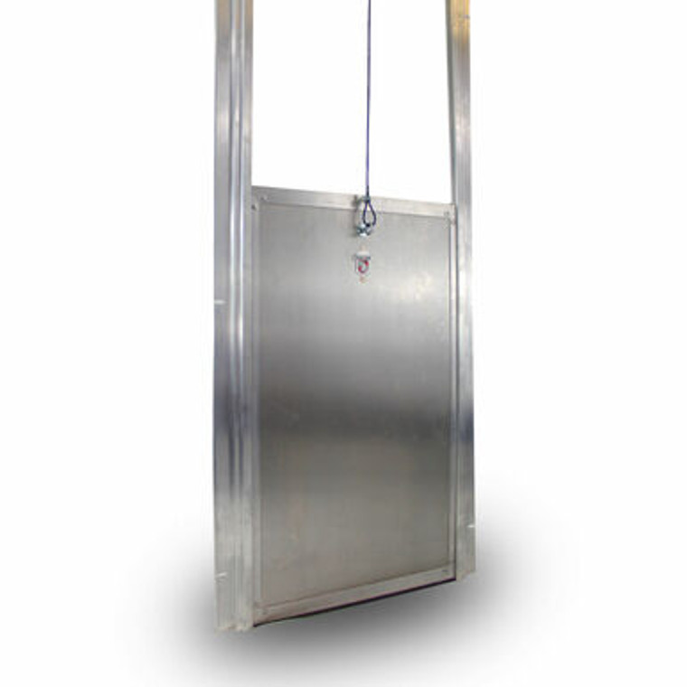 Kennel Clad Insulated Guillotine Kennel Door