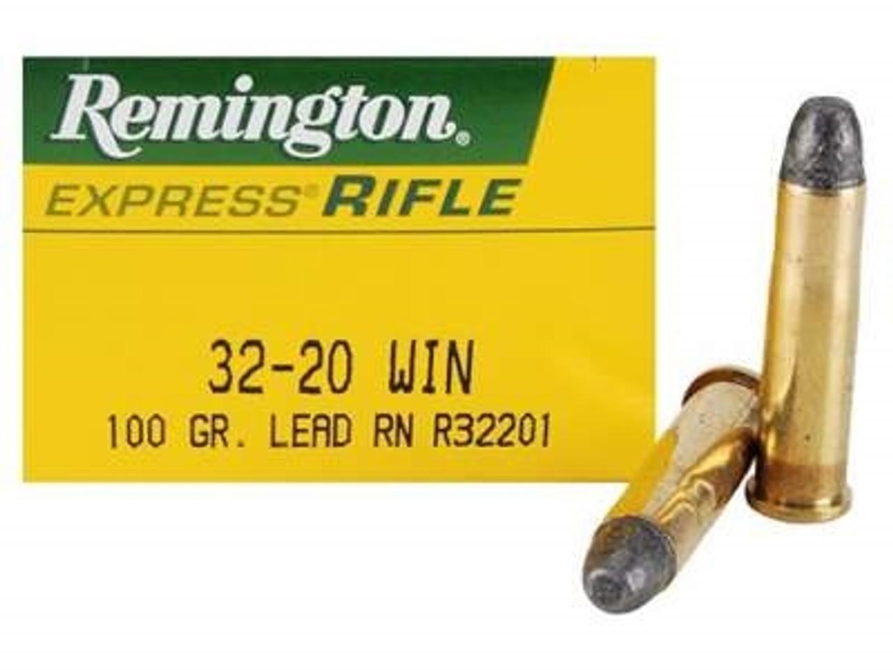 Remington Express 32-20 Win, 100gr Lead RN, 50 Rds