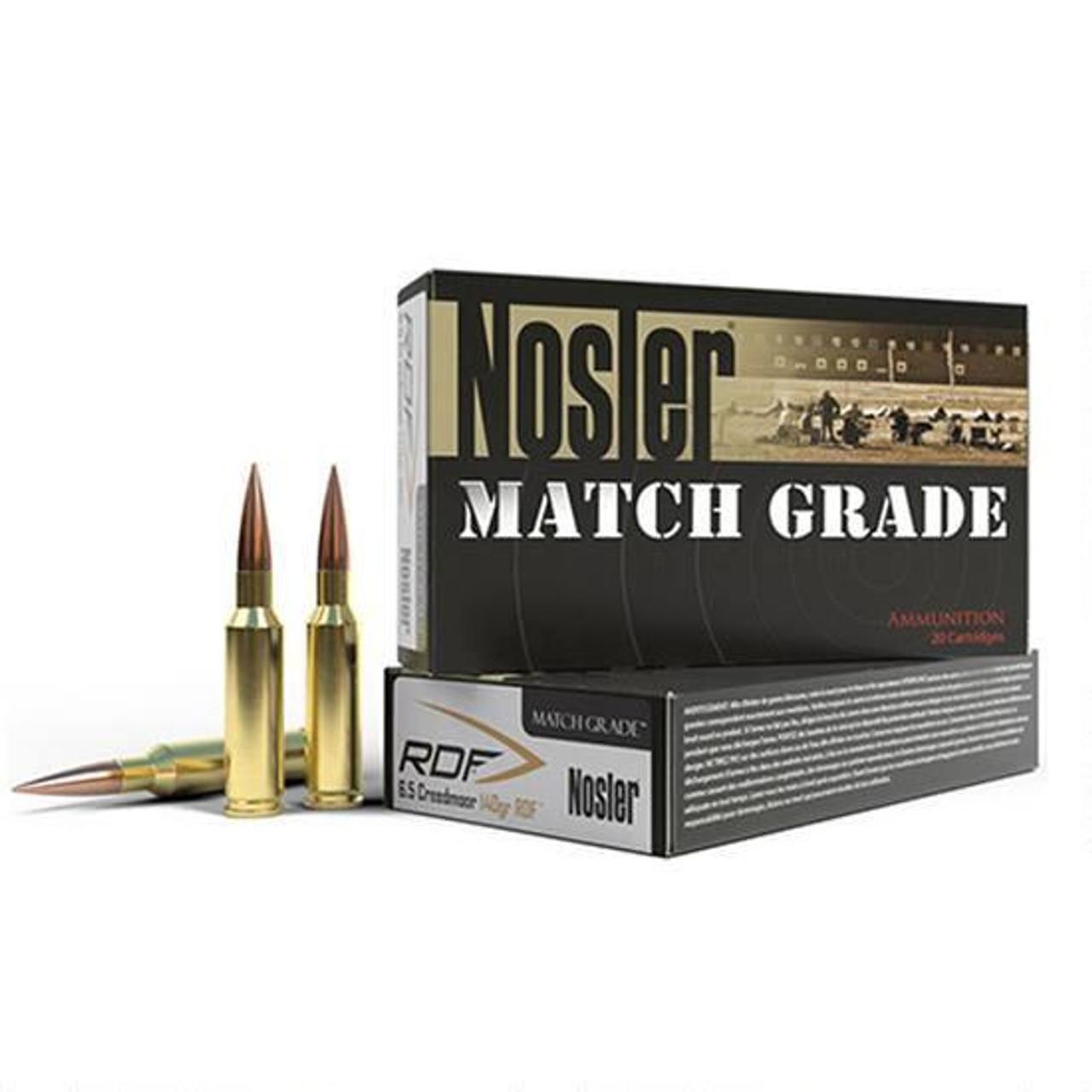 Nosler Match 6.5 Creedmoor 140 Gr RDF HPBT 20 Rds