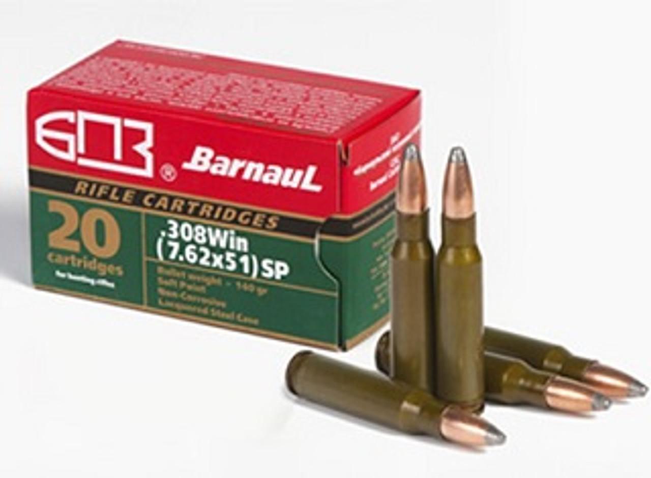 Barnaul 308 WIN, 168 Grain Soft Point, Box of 20