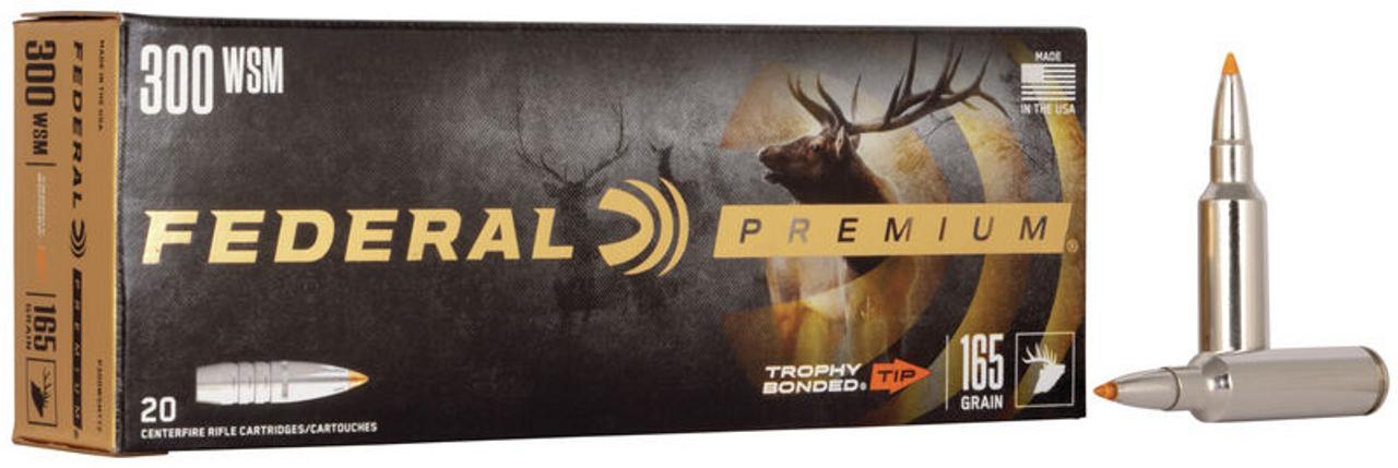 Federal Trophy Bonded Tip 300 WSM, 165 Gr, 20 Rds