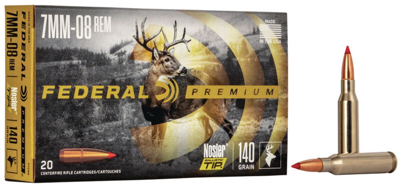 Federal Nosler Ballistic Tip Hunting 7mm-08 Rem, 140 Gr, 20 Rds