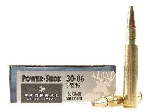 Federal 30-06 Springfield 150gr Power-Shok Box of 20