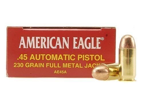 American Eagle 45ACP 230gr FMJ, Box of 50