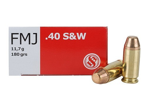 Sellier & Bellot 40 S&W 180 gr FMJ, Box of 50