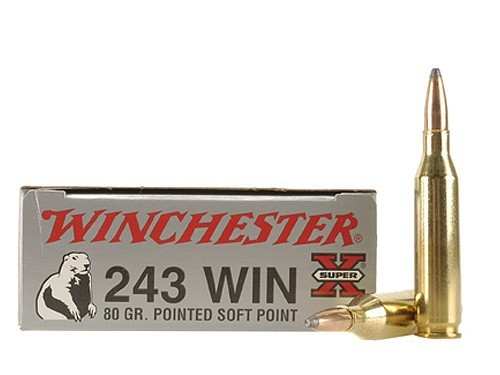 Winchester 243 Win 80gr Pointed Soft Point, Box of 20