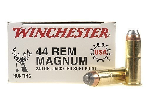Winchester 44 Mag 240gr JSP, Box of 50