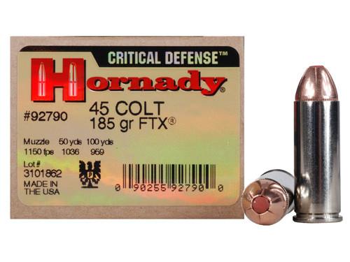 Hornady Critical Defense 45 Long Colt 185gr FTX Box of 20