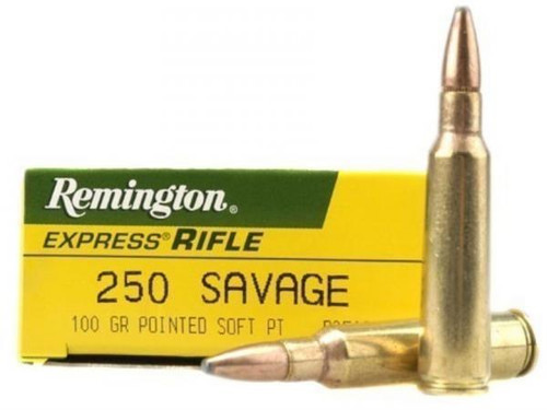 Remington Express 250 Savage 100gr Pointed Soft Point Box of 20