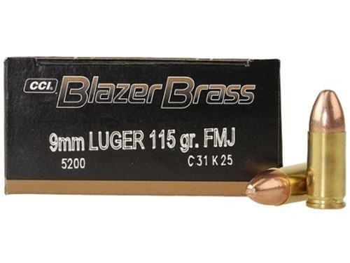 CCI Blazer Brass Case 9mm Luger 115gr FMJ Case of 1000