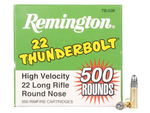 Remington Thunderbolt HV 22LR, 40 Gr, LRN, 500 Rounds, Bulk