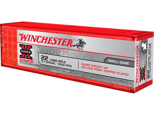 Winchester Super-X 22LR 37gr Plated Hollow Point, Box of 100