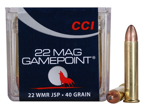 CCI 22 WMR Gamepoint 40gr Jacketed Soft Point Box of 50