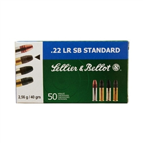 Sellier & Bellot 22LR, SB Standard, 40gr Lead RN, 500 Rounds