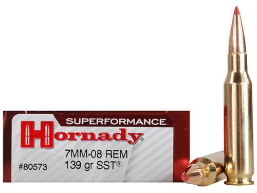 Hornady SUPERFORMANCE 7mm-08 139gr SST, Box of 20