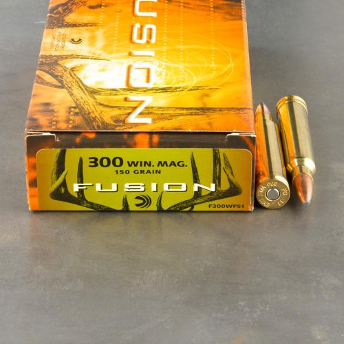 Federal Fusion 300 WIN MAG, 150gr Spitzer Boat Tail, Box of 20