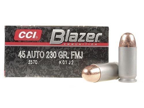 CCI Blazer Aluminum Cased 45 ACP 230gr FMJ Box of 50 Rounds