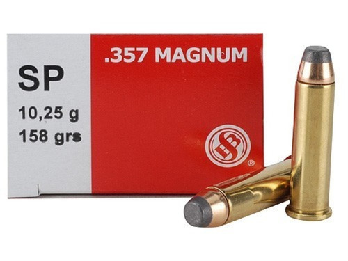 Sellier & Bellot 357 Mag 158gr SP, Box of 50