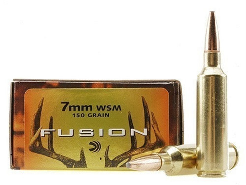 Federal Fusion 7mm WSM, 150gr Spitzer Boat Tail, Box of 20