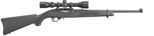 Ruger 10/22 Carbine Combo w/ Weaver Scope & Hard Case