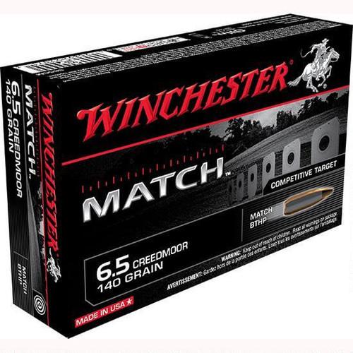 Winchester Match 6.5 Creedmoor, 140 grain BTHP, Box of 20