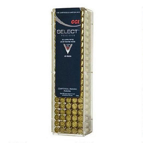 CCI .22 LR Select Target 40 Grain LRN, 100 Round Box