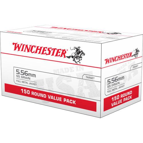 Winchester 5.56 NATO, 55gr FMJ, 150 Round Box