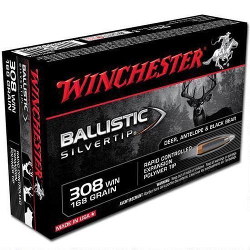 Winchester Ballistic Silvertip .308 Win BST, 168 Grains, 20 Rd