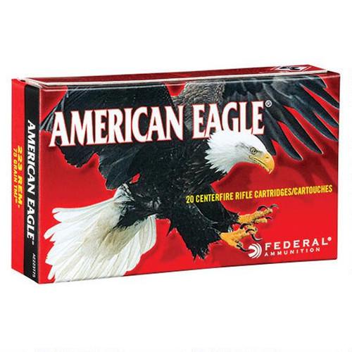 Federal American Eagle .223 Rem Ammunition 20 Rds 75 Gr TMJ