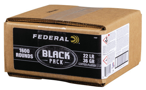 "Federal 22LR 36gr Copper Plated Hollow Point ""Black Pack"" 1600 Rds"
