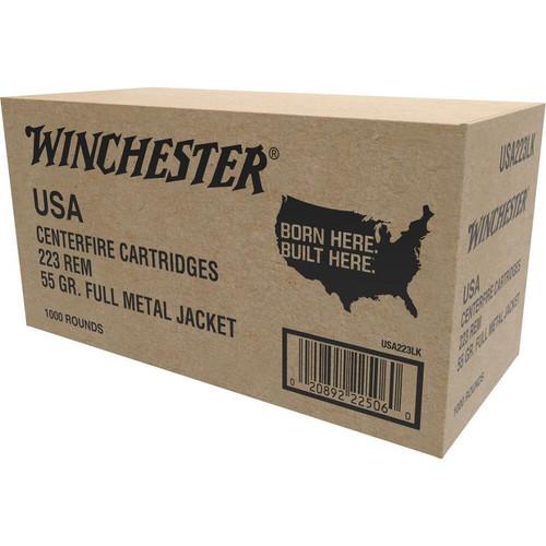 Winchester 223 Rem, 55 Gr FMJ 1000 Rds