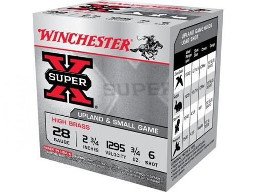 """Winchester Super X Hi Brass 28 Ga, 2 3/4"""", 3/4 Oz #6 25 Rds"""