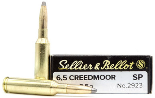 Sellier and Bellot 6.5 Creedmoor 140 gr SP, 20 Rds
