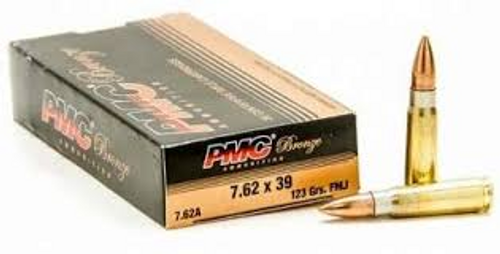 PMC Bronze 7.62 X 39 mm 123 Gr, FMJ, 20 Rds