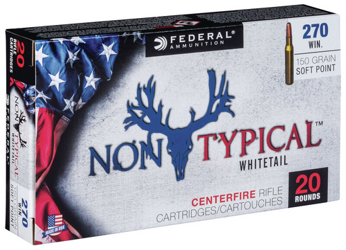 Federal Non Typical .270 Win 150 Gr, Sp, 20 Rds