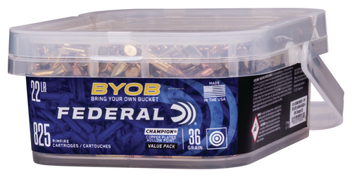 Federal Bring Your Own Bucket 22 LR, HP, 825 Rd