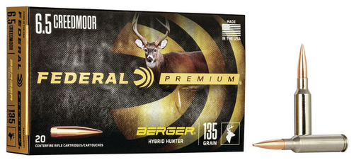 Federal Berger Hybrid Hunter 6.5 Creedmoor, 135 Gr, 20 Rds