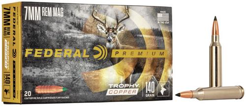 Federal Trophy Copper 7mm Rem Mag, 140 Gr, 20 Rds