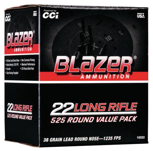 CCI Blazer Rimfire 22 LR, 38 Gr, LRN, 525 Rds