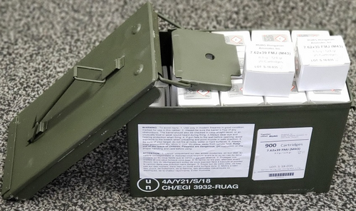 RUAG 7.62 X 39 124 Gr, FMJ, 900 Rd Ammo Can