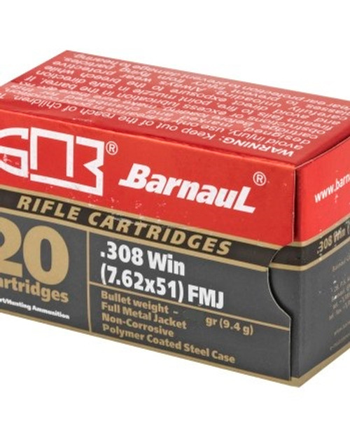 Barnaul .308 Win, Lacquered 168 Gr, FMJ, 20 Rds