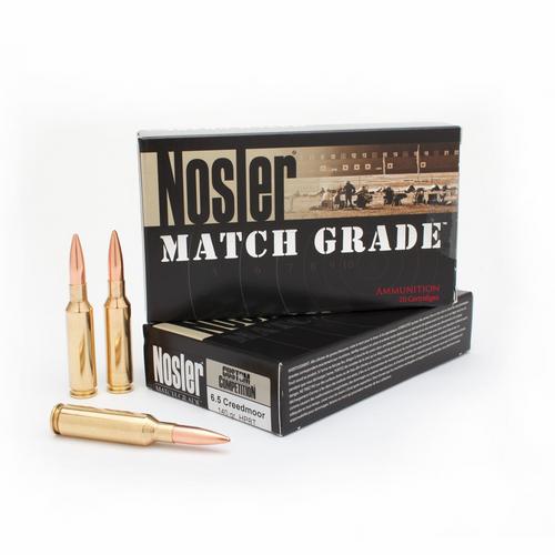 Nosler Match Grade 6.5 Creedmoor, 140 Gr, JHP, 20 Rds