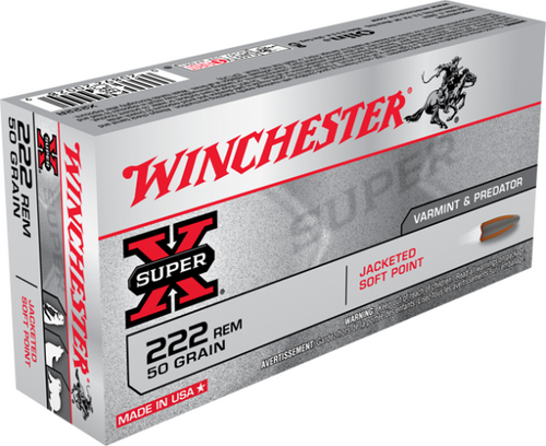 Winchester Super X 222 Rem, 50 Gr, JSP, 20 Rds
