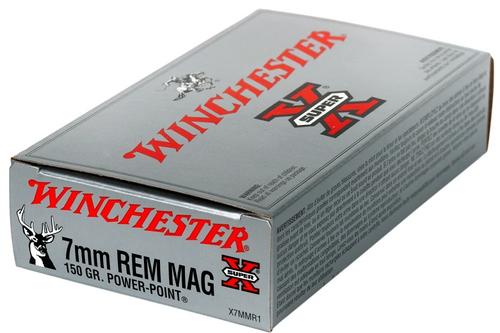 Winchester Super X 7mm Rem Mag, 150 Gr, PP, 20 Rds