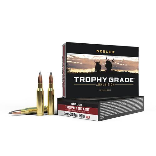 Nosler Trophy Grade 7mm-08 Rem, 150 Gr, Accubond, 20 Rds