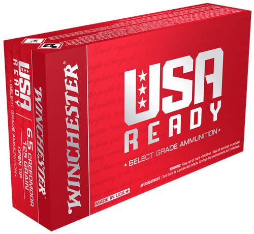 Winchester USA Ready 6.5 Creedmoor, 125 Gr, FMJOT, 20 Rds