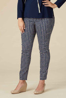Living for The Moment Jegging - Navy Houndstooth